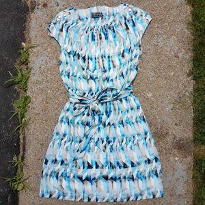 Guess Tie Multi Blue Summer Dress Size 6